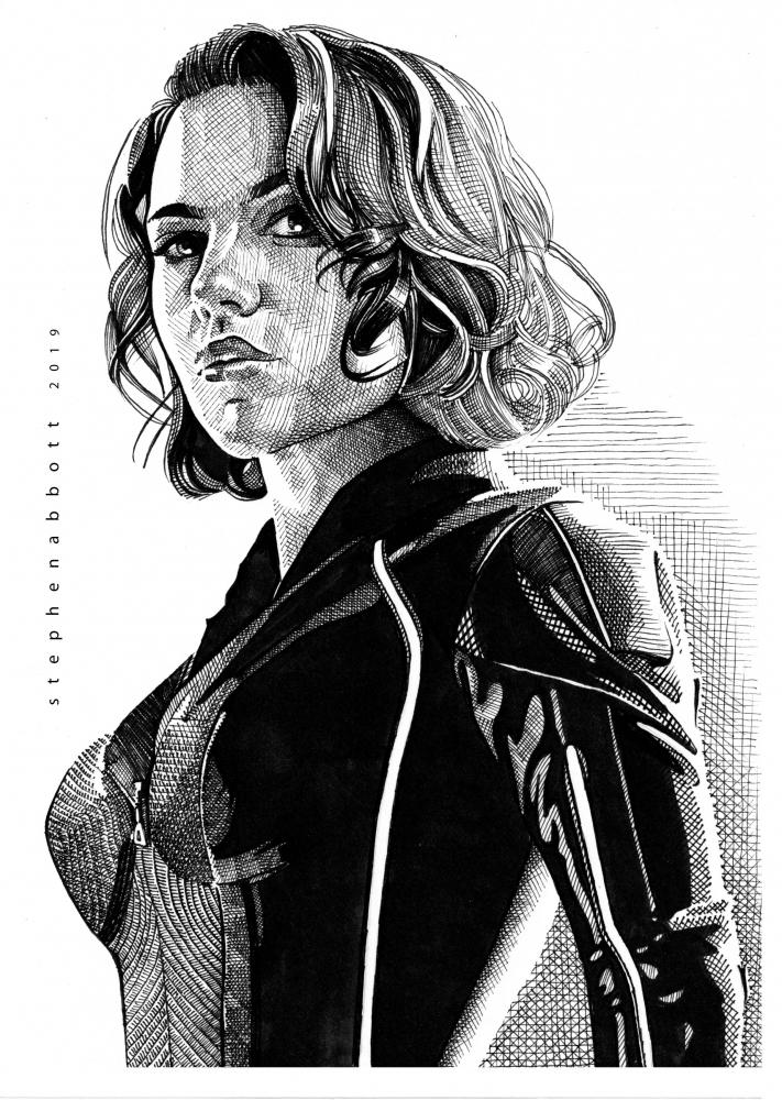 Black Widow, Scarlett Johansson by Stefanosart